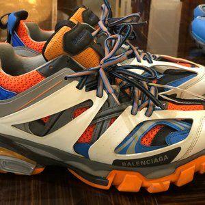Balenciaga Track Trainer 'Orange Grey' - Size 42